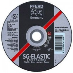 Metalo šlifavimo diskas Ø125x4x22mm E125-4 A24 R SG šlifavimo diskas PFERD