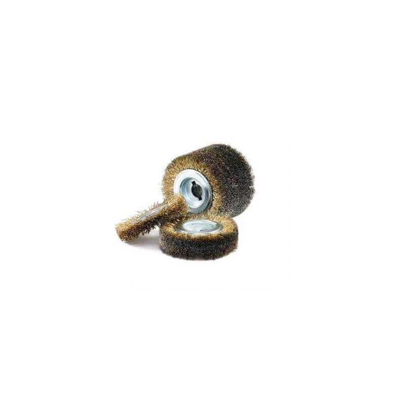 Plieninės vielos šepetys GERD su 0,2 mm žalvariu dengtais šereliais 100*70