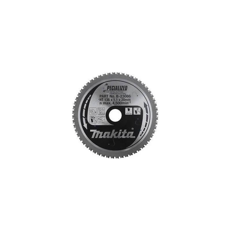 Pjovimo diskas MAKITA 136x20x1,1 56T nerūd. plienui
