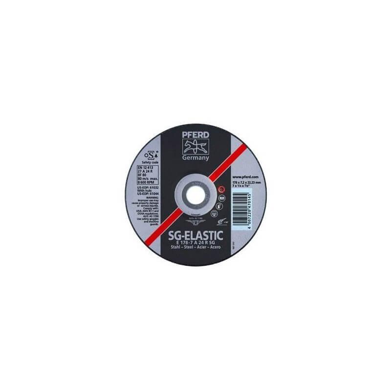 Metalo šlifavimo diskas Ø125x7x22mm E125-7A24R SG PFERD