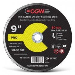 Pjovimo diskas 230x2.0X22.23 WA36 SBF T-1 INOX CGW