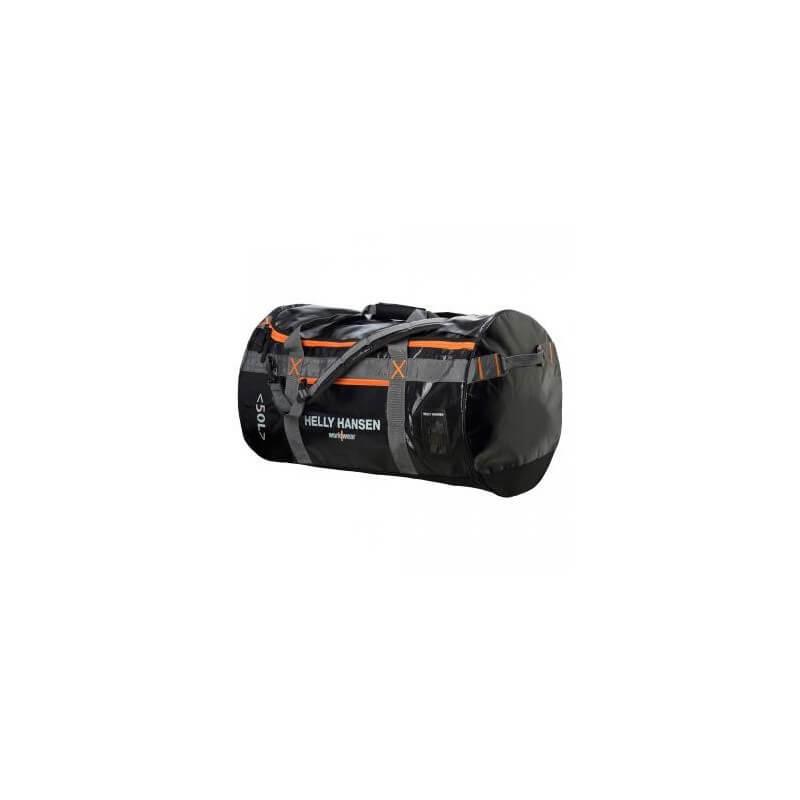 Kelioninis krepšys/kuprinė HELLY HANSEN Duffel 50L, juoda/oranžinė