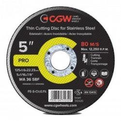Pjovimo diskas 125x1.6x22.23 WA36 SBF INOX T-1 CGW
