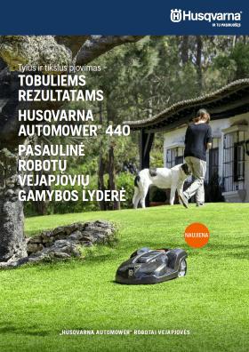 HUSQVARNA Automower robotai - vejapjovės