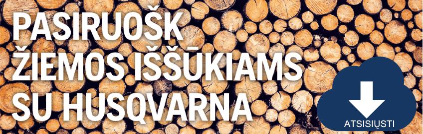 Pasiruošk žiemos iššūkiams su HUSQVARNA - AKCIJA