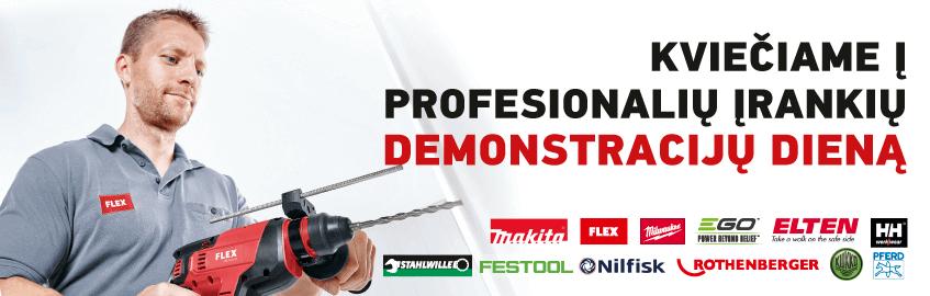Profesionalių įrankių demonstracijos