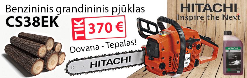 Benzininis grandininis pjūklas HITACHI CS38EK - AKCIJA !