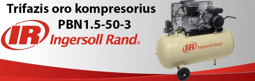 Trifazis oro kompresorius INGERSOLL RAND PBN1.5-50-3