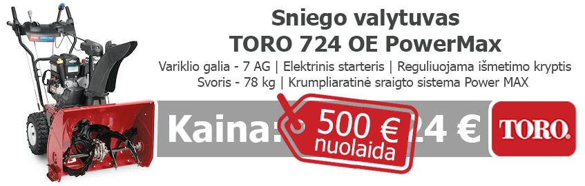 Benzininis sniego valytuvas TORO 724 OE PowerMax - Akcija !