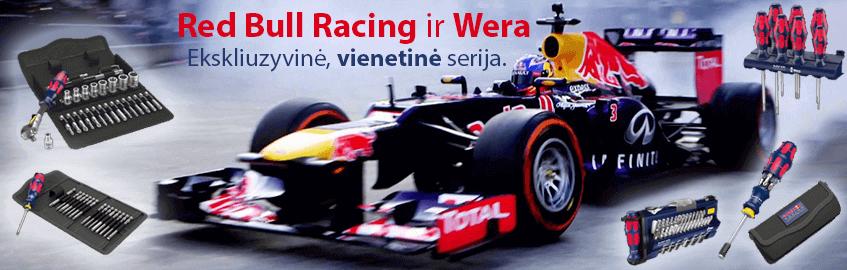 Red Bull Racing ekskliuzyviniai atsuktuvai iš Wera